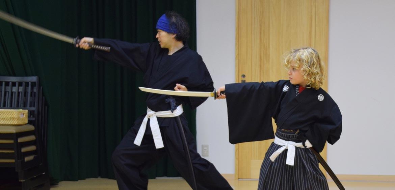 Samurai Kembu training