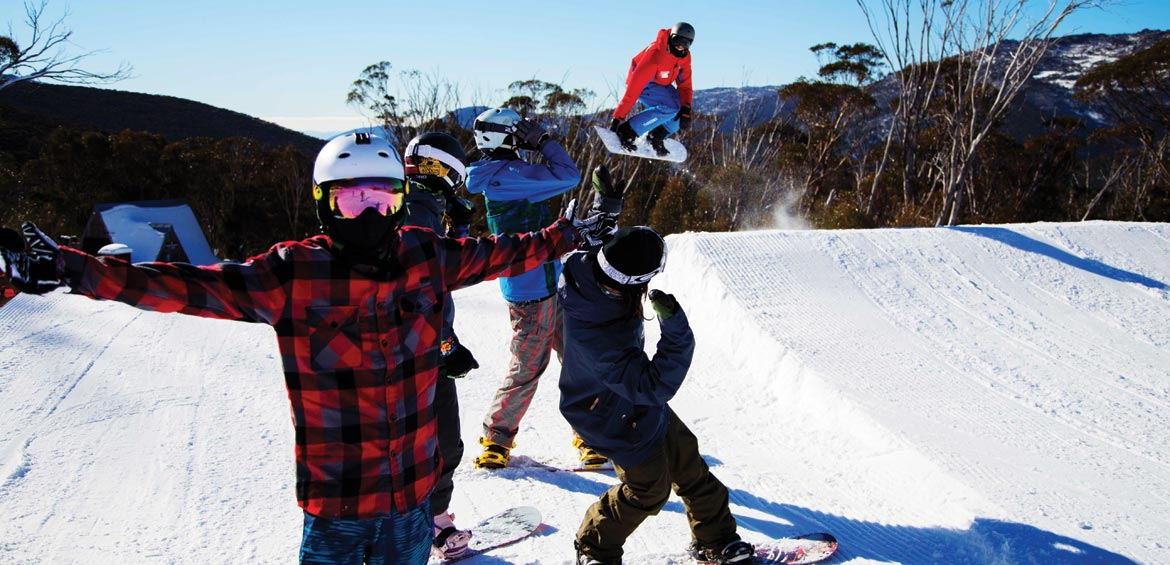 Thredbo instructor hitting the park