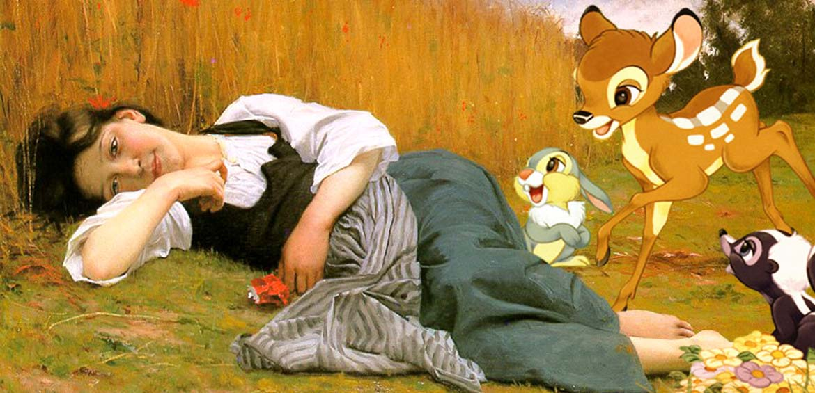 12 classical paintings with a Disney twist