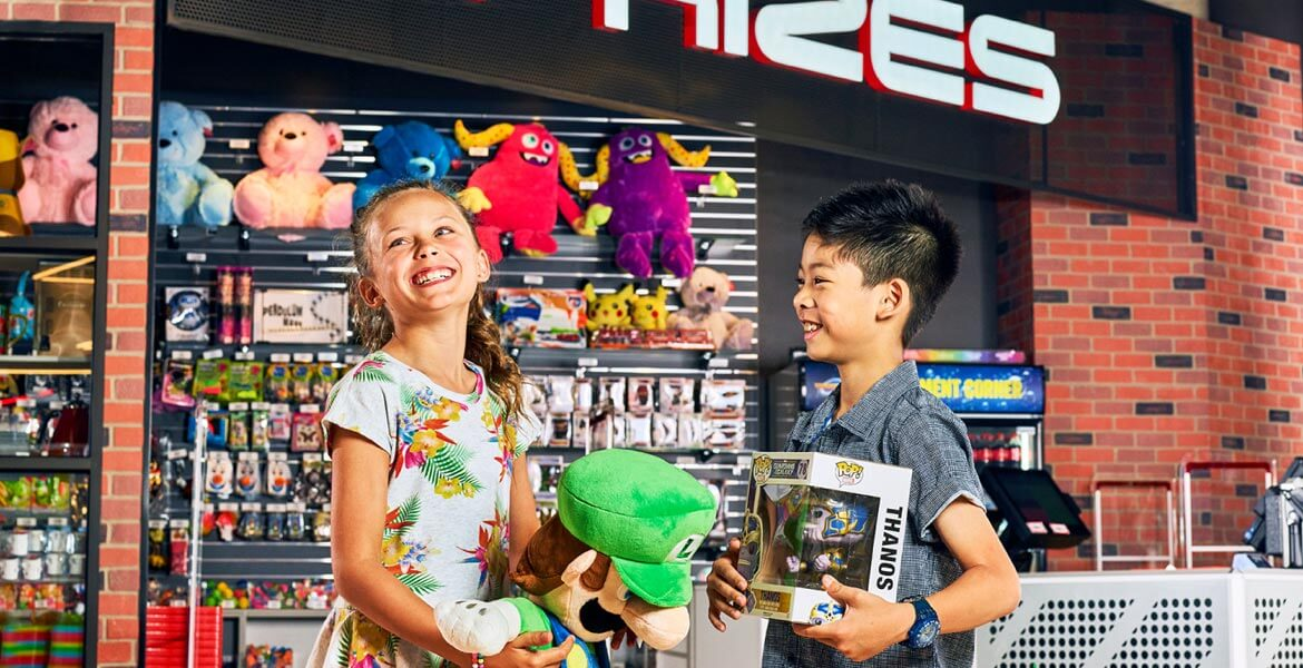 Collecting prizes at Timezone