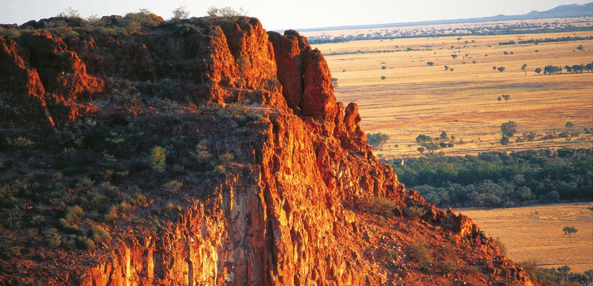 Rocky outcrop in Winton