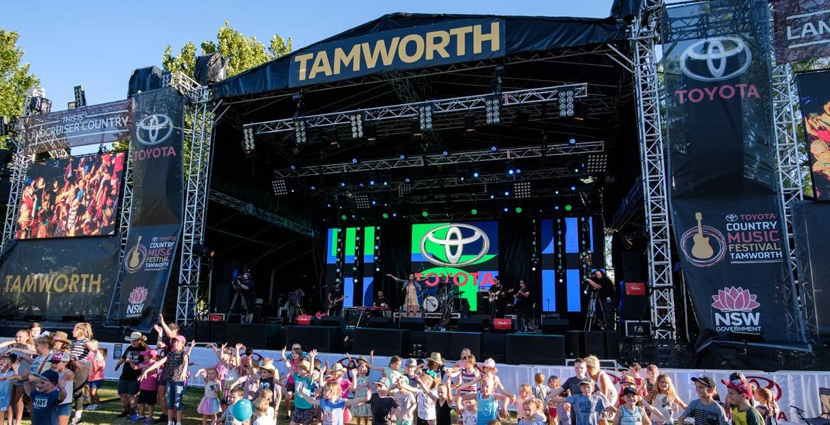 Tamworth Country Music Festival stage