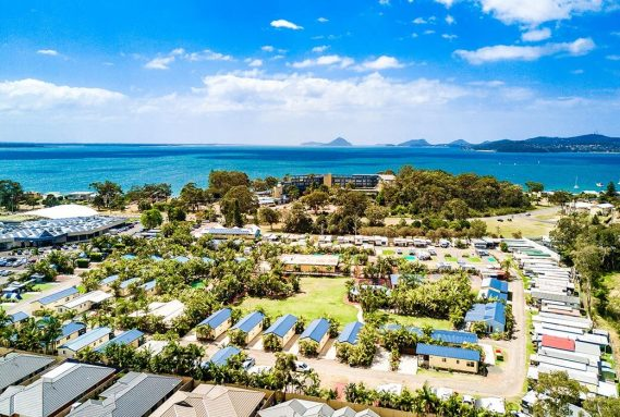 Aerial view of BIG4 Ingenia Holidays Soldiers Point