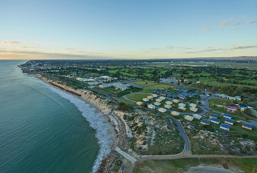 Aerial view of BIG4 West Beach Parks