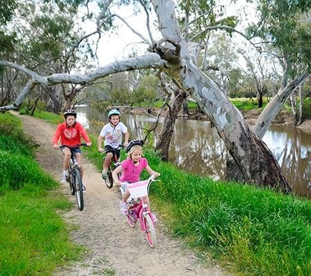 Bike riding at NRMA Echuca Holiday Park