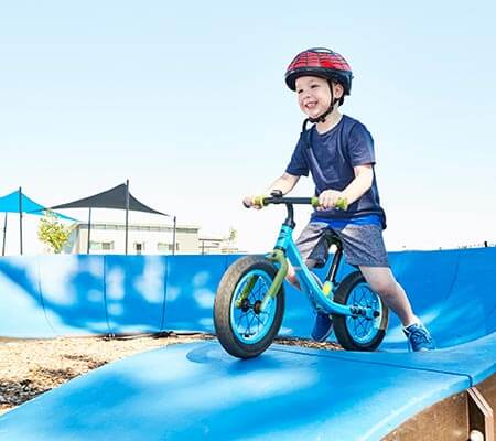 Bike riding at NRMA Port Arthur Holiday Park