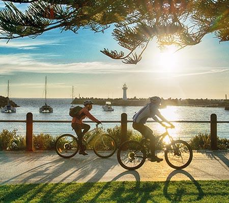 Bike riding at Novotel Wollongong Northbeach