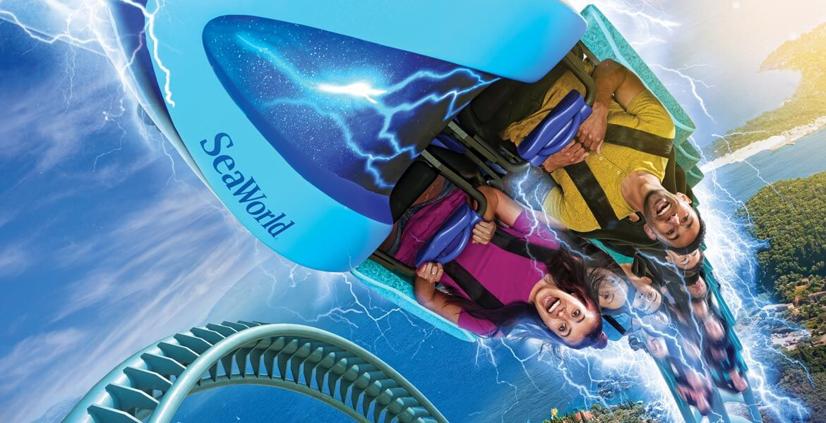 Electric Eel ride at SeaWorld San Diego