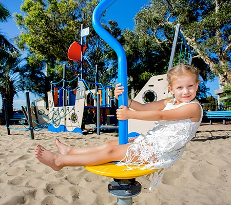 Playground at BIG4 Great Lakes at Forster-Tuncurry