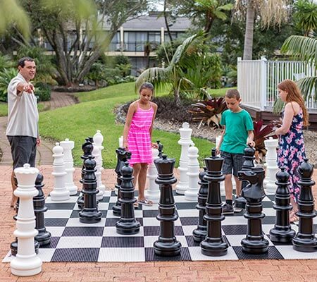 Giant chess game at Holiday Inn Auckland Airport