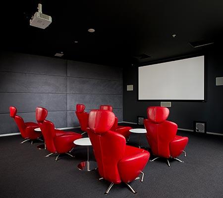Media room at Q1 Resort & Spa