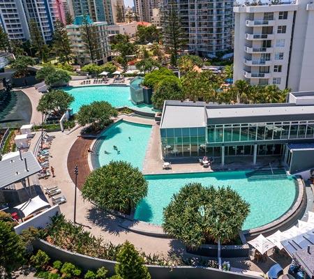Pool at Q1 Resort & Spa