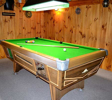 Pool table room at Koki Alpine Resort