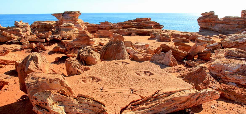 Dinosaur footprint in Broome