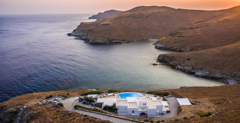 Ariel view of Greece island