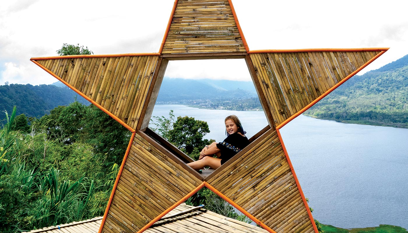 The lakeside mountains of Bedugul are dotted with fun photo ops