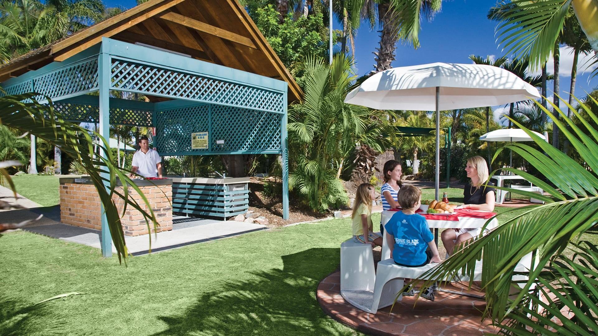 Barbecue at NRMA Treasure Island Holiday Park