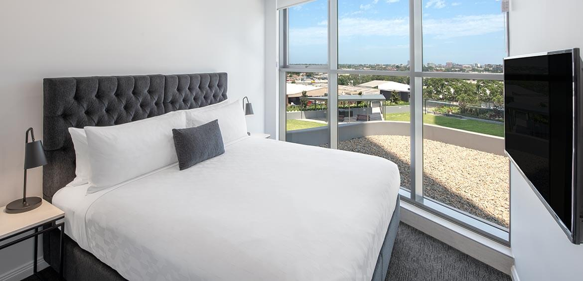 Bedroom at Meriton Suites Carter Street