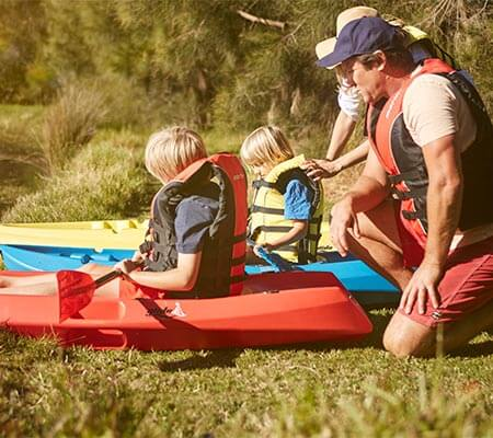 Canoeing at Budgewoi Holiday Park
