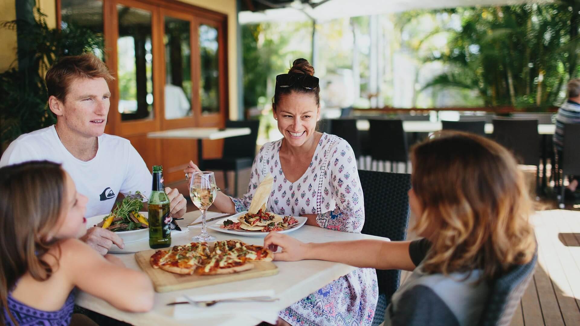 Dinner time at NRMA Treasure Island Holiday Park