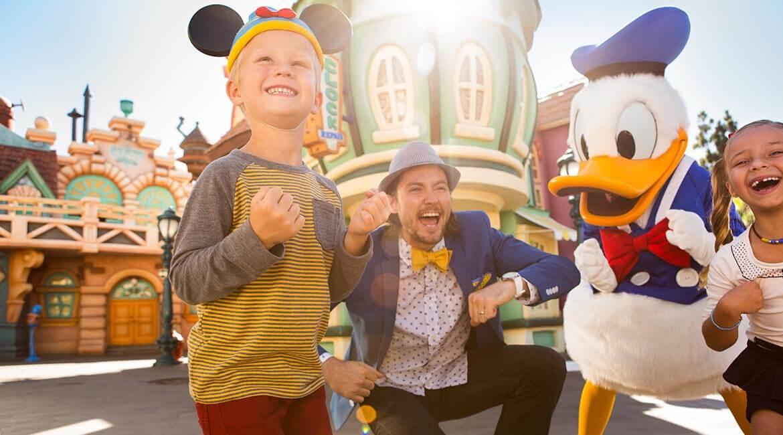 Donald Duck at Disneyland Resort, California