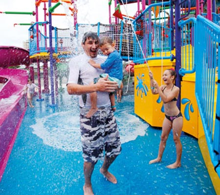 Family fun at the water park