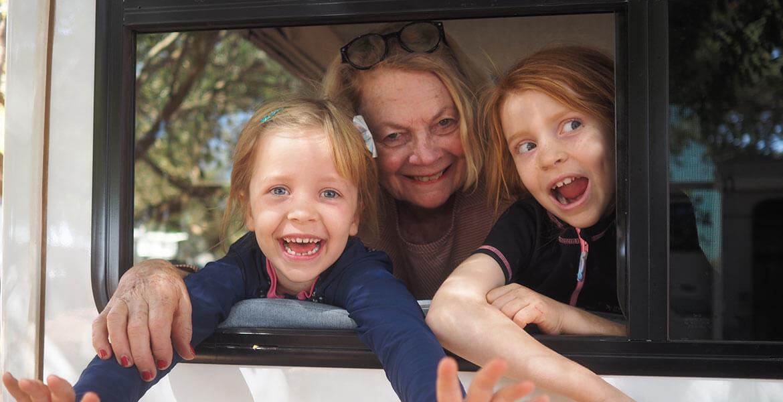 Family fun in a Maui Cascade motorhome