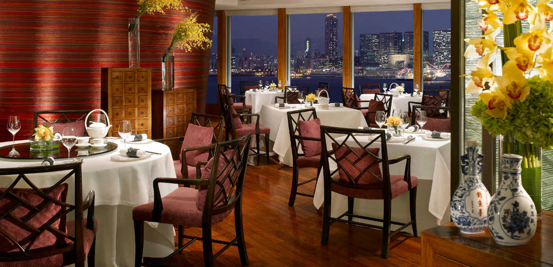 Dining at Four Seasons Hong Kong