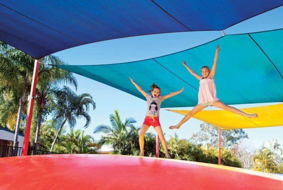 Jumping pillow at NRMA Treasure Island Holiday Park