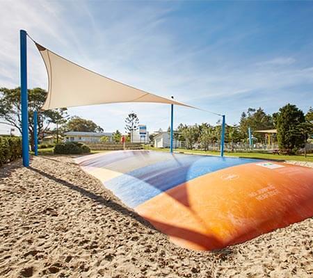 Jumping pillow at Norah Head Holiday Park