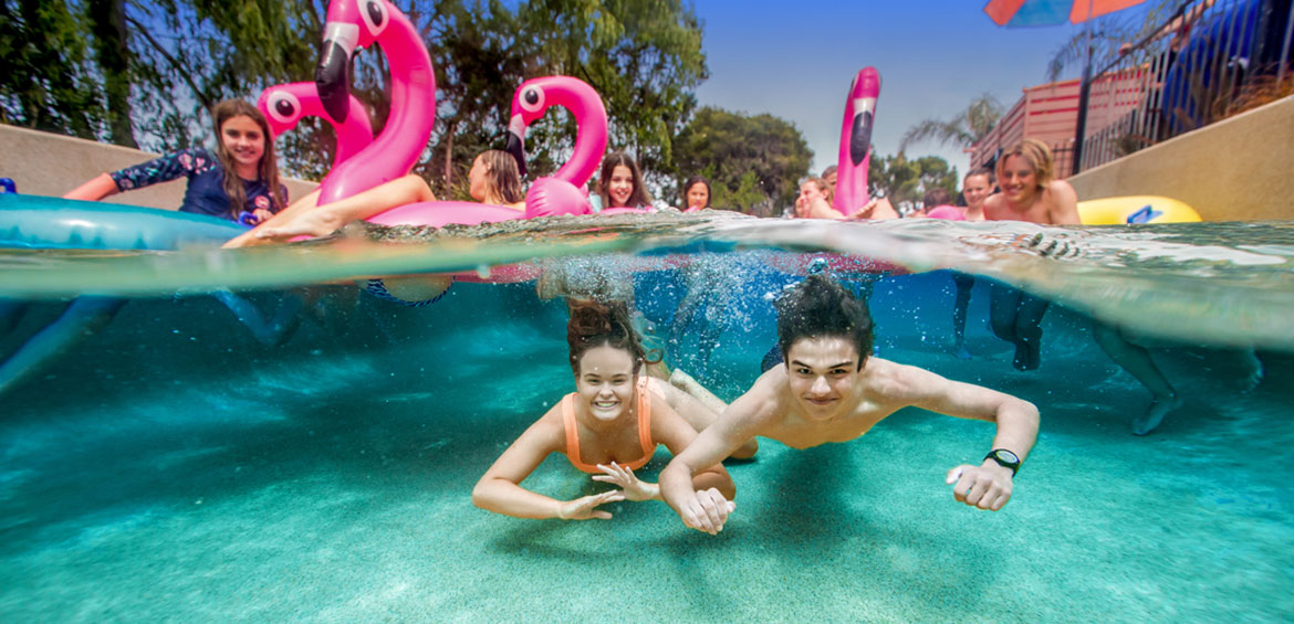 Lazy river at Adventure Park Geelong
