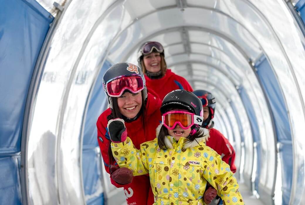 Learning how to ski at Hanazono Niseko Resort