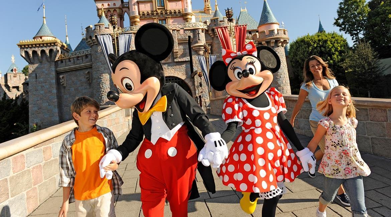 Mickey and Minnie at Disneyland Resort, California