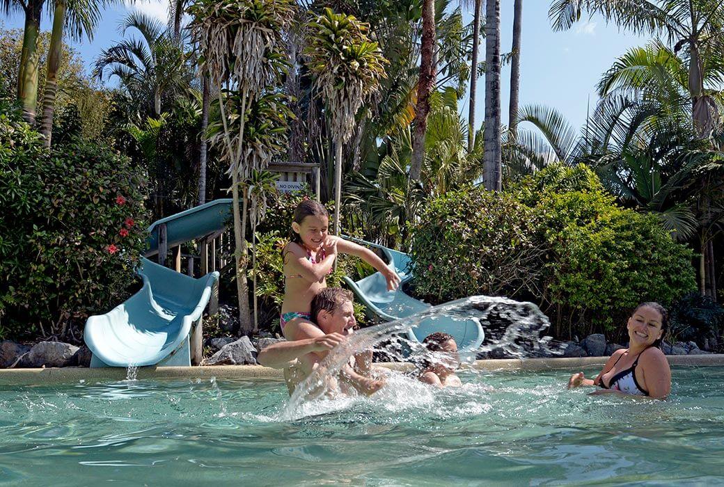 Pool fun at NRMA Darlington Beach Holiday Park