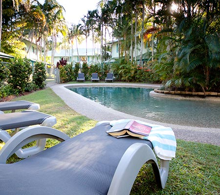 Relaxing at Coco Bay Resort