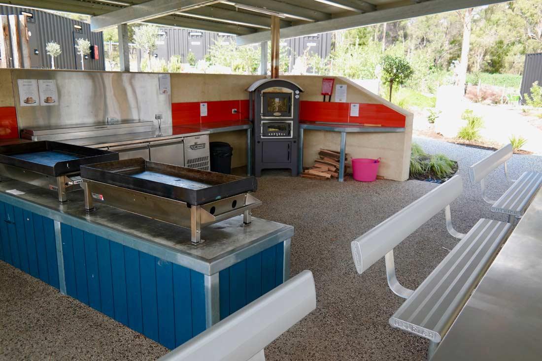 Camp kitchen at BIG4 St Helens