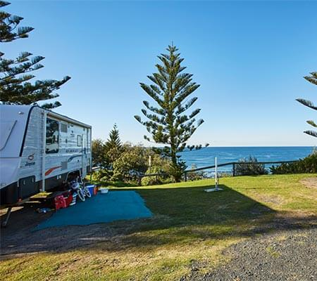 Unpowered sites at Toowoon Bay Holiday Park