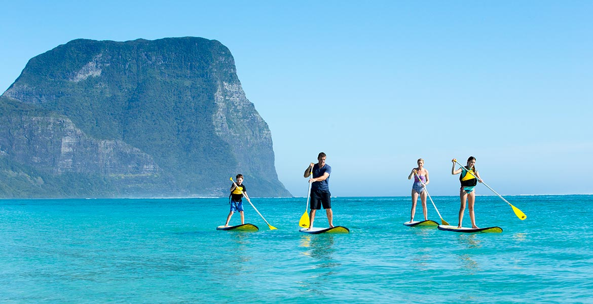 Lord Howe Island paddle boarding