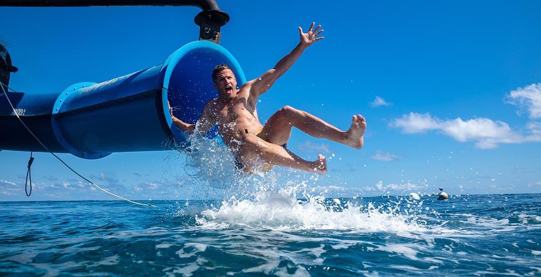 Slide onboard Sunlover Reef Cruises