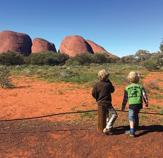 The boys at Kata Tjiuta, Northern Territory