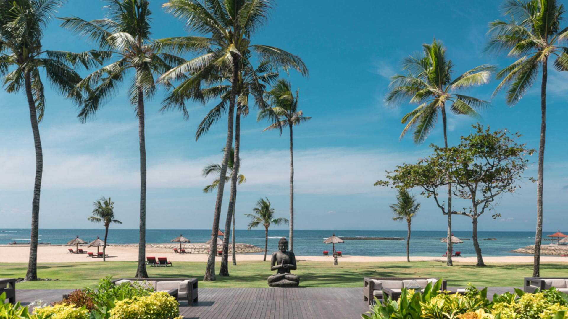 Beach view at Club Med Bali
