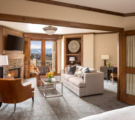 Valley Side Suite at the Four Seasons Resort and Residences Jackson Hole