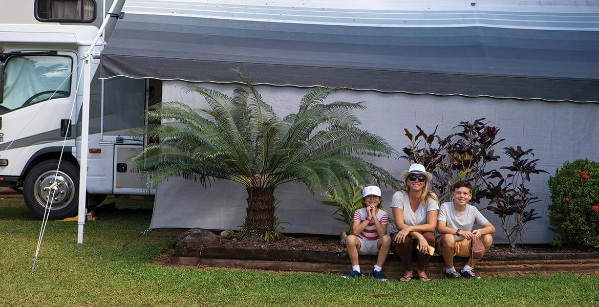 Snez and her kids at BIG4 Ingenia Holidays Cairns Coconut