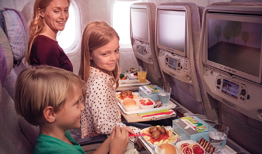 Emirates, flying with kids