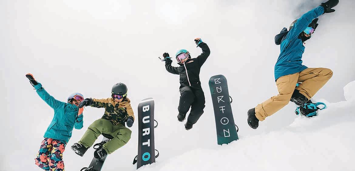 Burton, first-time snowboarders, snowboarding