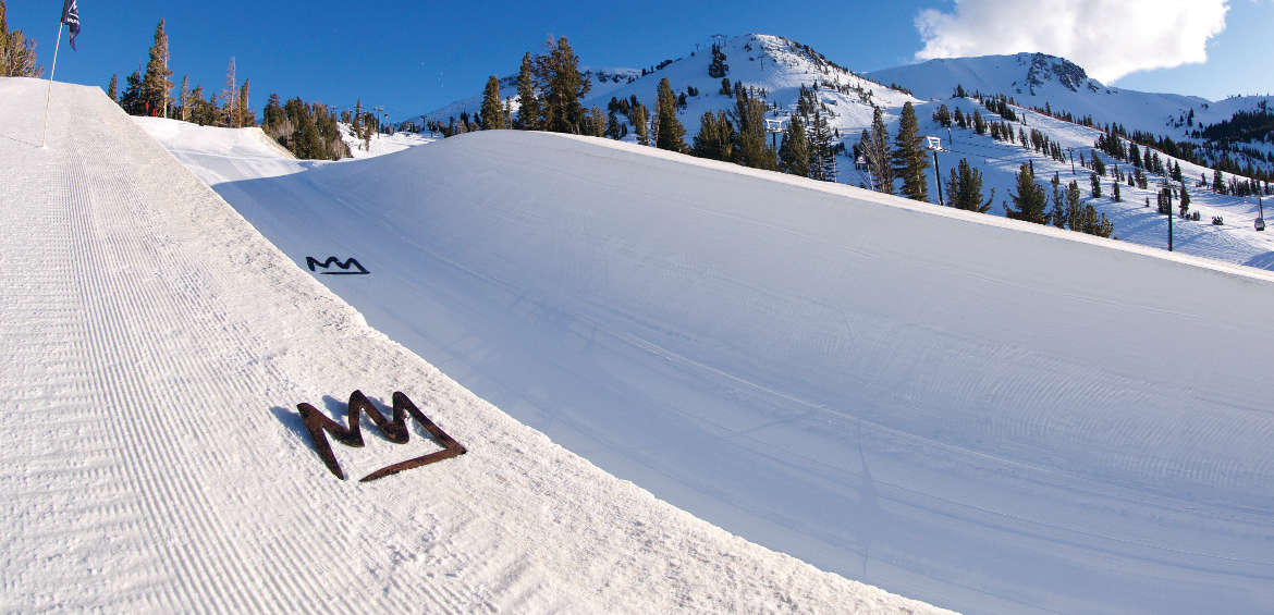 Half pipe at Mammoth Mountain
