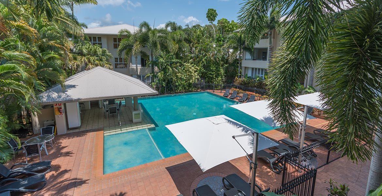 Aerial view of Cayman Villas Port Douglas