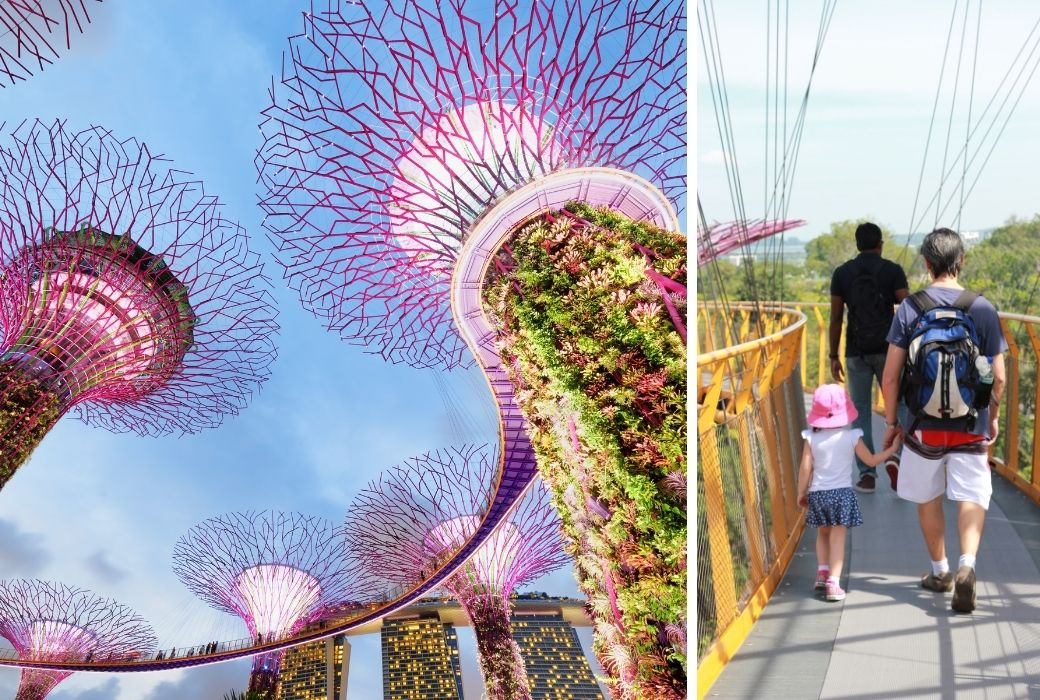 Singapore with kids supertrees