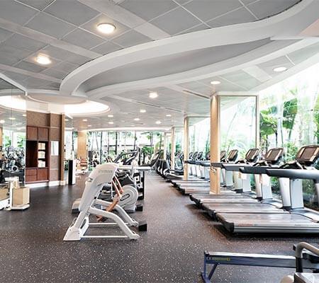 Health Club Interior at Shangri-La Hotel, Singapore