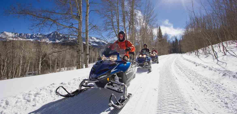 Snowmobile, snow activities